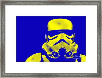 Stormtrooper Helmet 33 Framed Print by Micah May