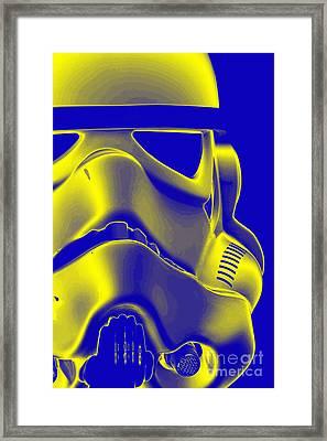 Stormtrooper Helmet 5 Framed Print by Micah May