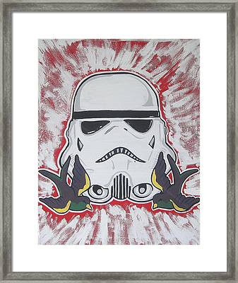 Stormtrooper Tattoo Art Framed Print by Gary Niles