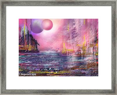 Stormway Framed Print by Francoise Dugourd-Caput
