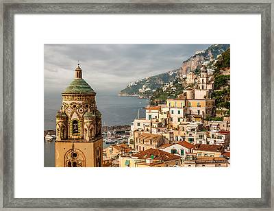 Stormy Amalfi Framed Print