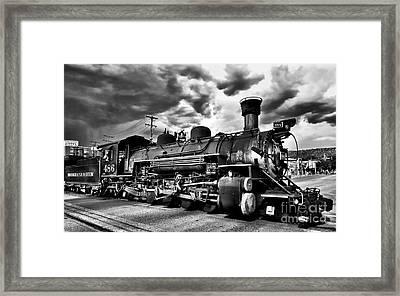 Stormy Arrival Framed Print