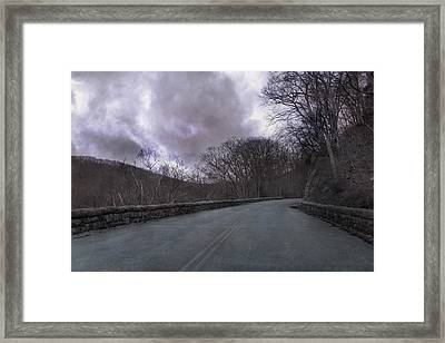 Stormy Blue Ridge Parkway Framed Print