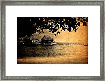 Stormy Bungalows Framed Print