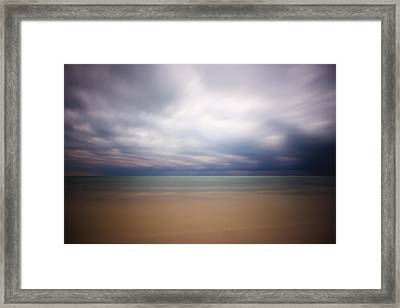 Stormy Calm Framed Print