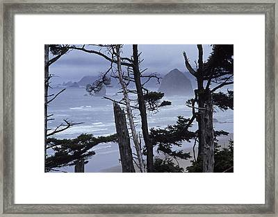 Stormy Cannon Beach Framed Print