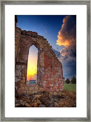 Stormy Church Framed Print by Thomas Zimmerman