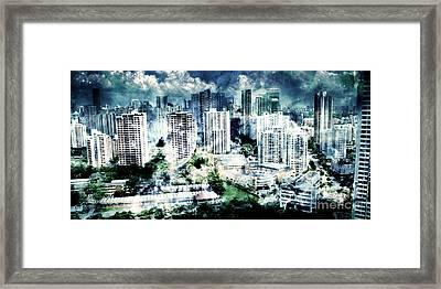 Stormy City Framed Print by Phill Petrovic