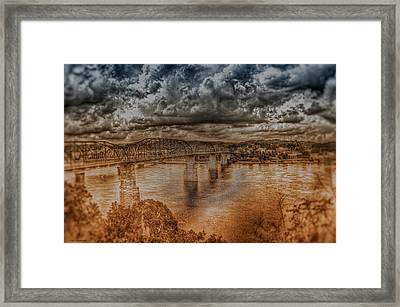 Stormy Clouds Framed Print by Dennis Baswell