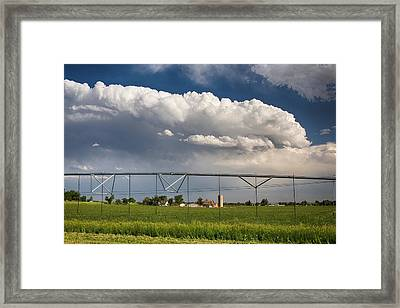 Stormy Country Skies Framed Print