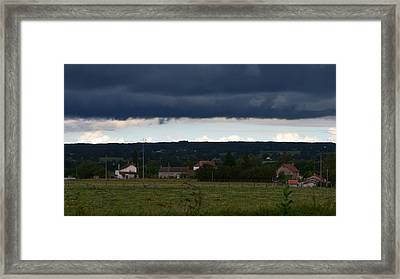 Stormy Countryside Framed Print