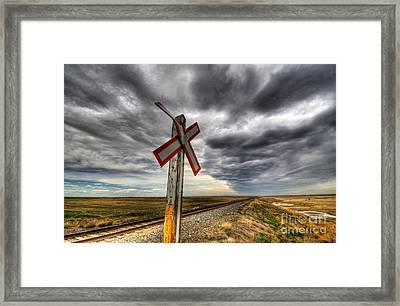 Stormy Crossing Framed Print