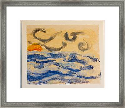 Stormy Dawn Framed Print