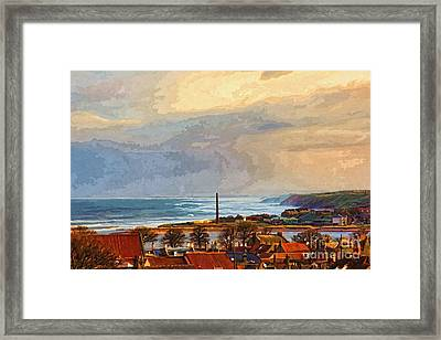 Stormy Day At Berwick - Photo Art Framed Print