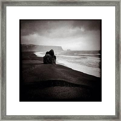 Stormy Day At Dyrholaey Framed Print