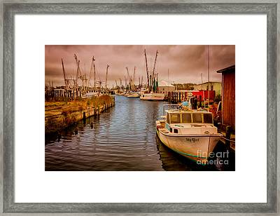 Stormy Day At Englehard - Outer Banks II Framed Print by Dan Carmichael