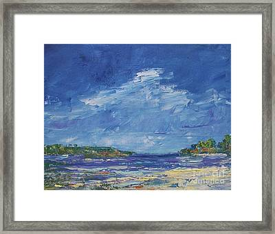 Stormy Day At Picnic Island Framed Print by Gail Kent