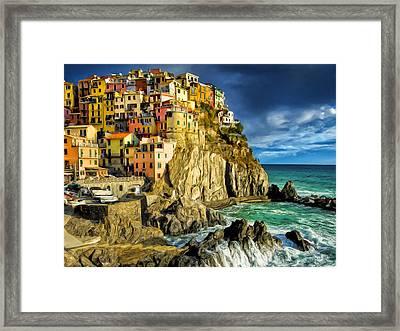 Stormy Day In Manarola - Cinque Terre Framed Print