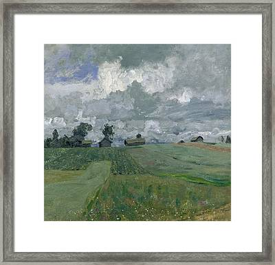 Stormy Day Framed Print by Isaak Ilyich Levitan