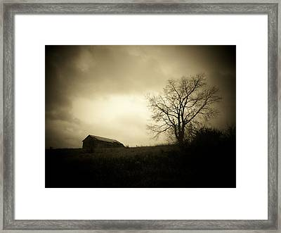 Stormy Day Framed Print by Michael L Kimble