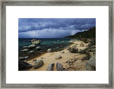 Framed Print featuring the photograph Stormy Days  by Sean Sarsfield