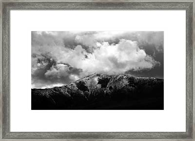 Stormy Departure Framed Print