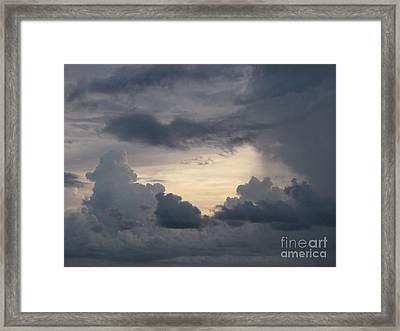 Stormy Evening Framed Print by Gayle Melges