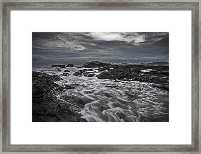 Stormy Evening On The Pacific Framed Print