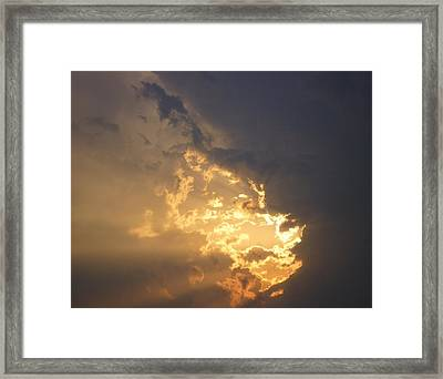 Framed Print featuring the photograph Stormy Fiery Sunset by Bill Woodstock