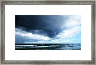 Stormy - Gray Storm Clouds By Sharon Cummings Framed Print