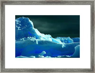 Framed Print featuring the photograph Stormy Icebergs by Amanda Stadther