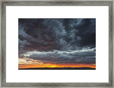 Stormy Jemez Mountains Sunset - Santa Fe New Mexico Framed Print by Brian Harig