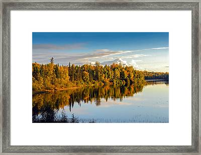 Stormy Lake Alaska In Autumn Framed Print
