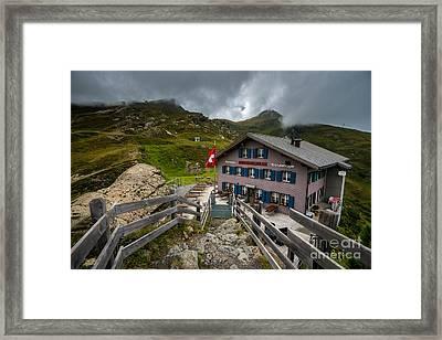 Stormy Mannlichen - Bernese Alps - Switzerland Framed Print by Gary Whitton