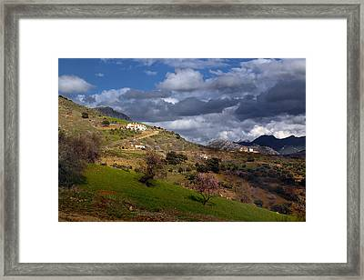 Stormy Mediterranean Landscape Framed Print