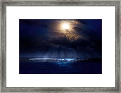 Stormy Moonrise Framed Print by Mark Andrew Thomas