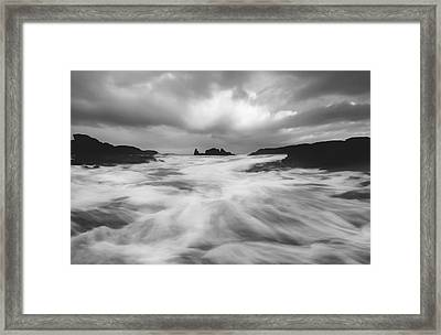 Framed Print featuring the photograph Stormy Morning by Roy  McPeak