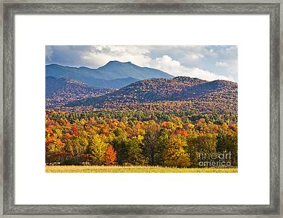 Stormy Mount Mansfield Framed Print