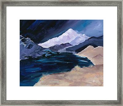 Stormy Mountain Framed Print
