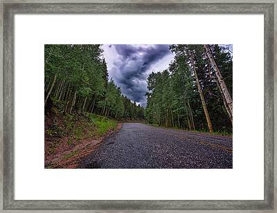 Stormy Mountain Road Framed Print by Thomas Zimmerman