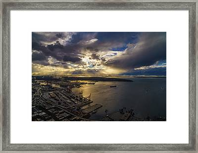 Stormy Night Coming Framed Print by Mike Reid