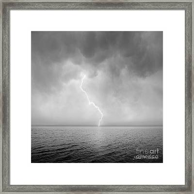 Stormy Night  Framed Print by Dave Gordon