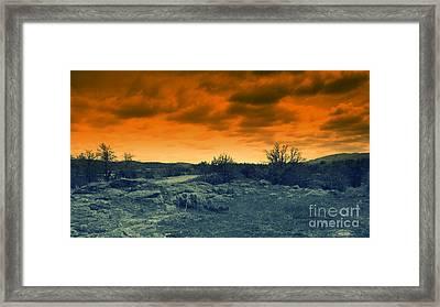 Stormy Night Framed Print by Mickey Harkins
