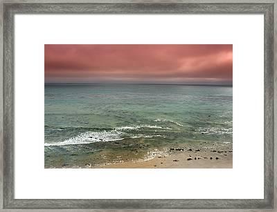 Stormy Ocean Panorama Framed Print