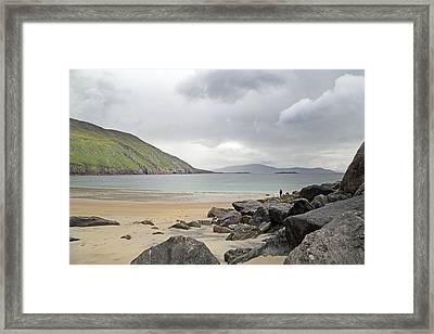 Stormy Peace Keem Beach Ireland Framed Print