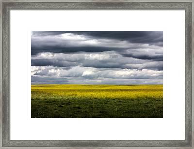 Stormy Plains Framed Print