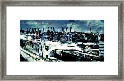Stormy Port Framed Print by Phill Petrovic