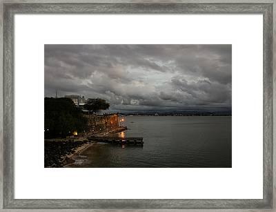Framed Print featuring the photograph Stormy Puerto Rico  by Georgia Mizuleva