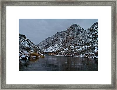 Stormy River Framed Print