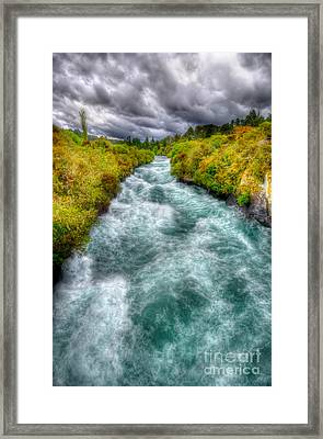 Stormy River Framed Print by Colin Woods